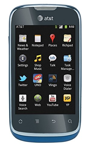 HUAWEI Fusion U8652 Unlocked GSM Phone with Android 2.3 OS, Touchscreen, 3.15MP Camera, GPS, Wi-Fi, Bluetooth, Radio and microSD Slot - Black/Blue