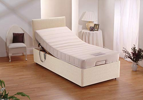 sleepkings Quality 3ft Electric Bed Single Adjustable Bed With Memory Foam Mattress & Headboard