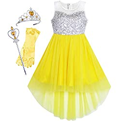Yellow Set With Sequin & Mesh Princess Tulle Dress
