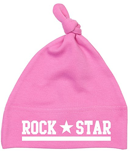 racker N Roll Rock Star Baby Bonnet simple nœuds Rose