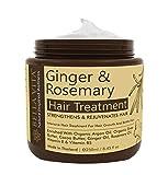 Mascarilla de queratina para el control de la caída y el crecimiento del cabello con aceite de jengibre, romero, eucalipto y argán