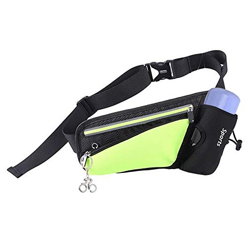 Geeke Gürteltasche Hüfttasche Bauchtasche Laufgürtel für Trinkflasche, Sports Trinkgürtel Pockets Waistpacks Outdoors für Telefon bis zu 6,5 Zoll, für Ausgeführt Radfahren Wandern Walking