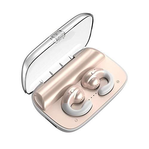 ZJDY botkabel, bluetooth-koptelefoon, painless dragen, oordopjes, halfronde oorschelp, 2200 mAh, energie-bank-sport-headsets, Skin color