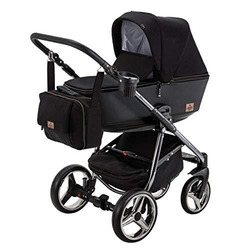 BeBe-Mobile Kinderwagen Kombikinderwagen 2in1 Kinderwagenset Babywanne Buggy Gusto Special GS98 schwarz