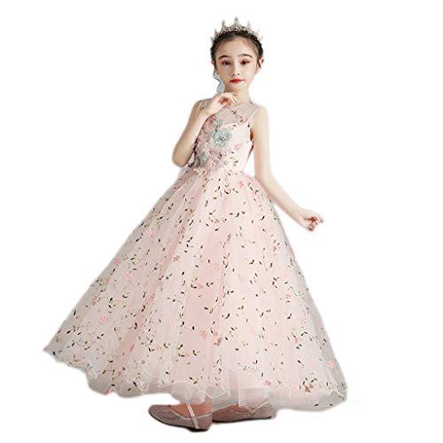 Cómodo vestido para niñas con cola de princesa vestido de