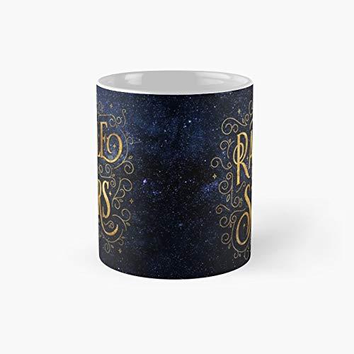 Taza clásica de la noche con sonajero de las estrellas | Mejor regalo divertido tazas de café 12 oz