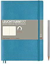 LEUCHTTURM1917 - Composition B5 Dotted Softcover Notebook (Nordic Blue) - 123 Numbered Pages
