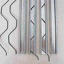 Greenhouse Wiggle Wire Spring Lock & U-Channel Bundle, Plastic Poly Film Attachment (40 Pieces)