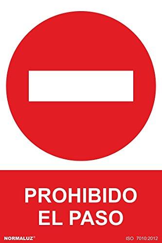 Normaluz RD41017, Señal Prohibido El Paso PVC Glasspack 0,7 mm, 30x40 cm