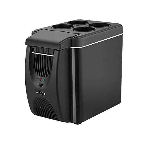 GAONAN 12V Mini Auto Kühlschrank Gefrierschrank Heizung, 6L Mini Car Kühlschrank Gefrierfach und Heizung, Transportable Kühlschrank Kühlschrank Reise Kühlschrank