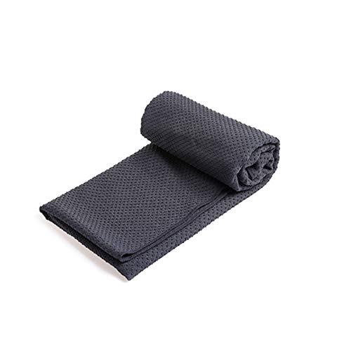 KUENG Mantas De Yoga Toalla Yoga Mat Toalla Fitness Mat Toalla Toalla Gimnasio Hombre Toalla Antideslizante Yoga Darkgray,-