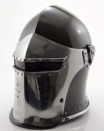 Nautical Replica Hub Medieval-Barbute-Helme-Armour-Helm-Roman-Ritter-Helme - mit Innenslip