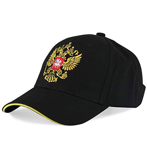 Baseballmütze Tier Hysteresenhüte Russisches Nationales Emblem Hip Hop Caps Männer Stickerei Kurze Kappe Kinder Sport Hut-Schwarz