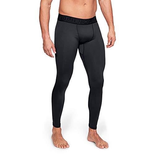 Under Armour ColdGear, warme und komfortable Sportleggings für Männer, atmungsaktive Thermohose mit Kompressionspassform Herren, Black / Charcoal , L