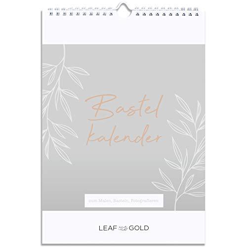 LEAF & GOLD® Kalender zum Selbstgestalten ohne Jahr I A4 Bastelkalender, Fotokalender, Kreativkalender immerwährend I Wandkalender
