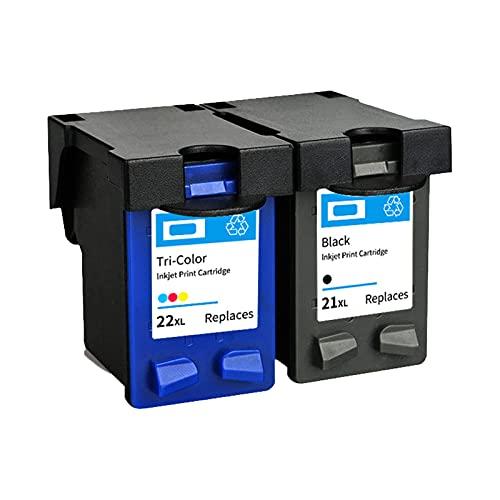 RICR Remanufactured 21xl 22xl Cartuchos de Tinta compatibles para HP DeskJet 3910 3920 D2460 F2180 OfficeJet 4315 J3680 Impresora 21+22XL