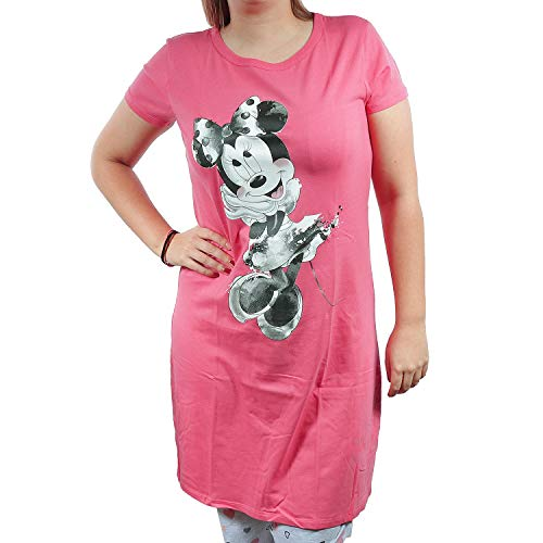 TVM Europe GmbH Nachthemd Damen Minnie Mouse Schlafhemd Rosa (L)