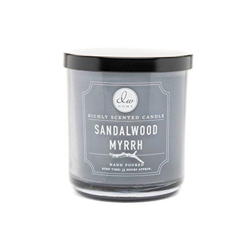 DW Home Decoware Richly Scented Candle Medium Single wick 9.69 oz ---- Sandalwood Myrrh