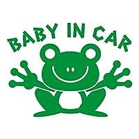 imoninn BABY in car ステッカー 【パッケージ版】 No.22 カエルさん (緑色)