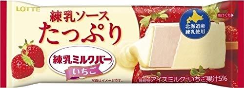 ロッテ 練乳ミルクバー いちご90ml×24袋