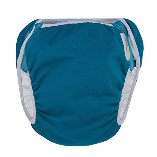 GroVia Reusable Waterproof Swim Diaper for Baby, Infant, and Toddler (Size 1: 10-19 lbs, Abalone)