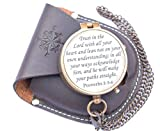 RIRHTAJUS Trust in The Lord with All Your Heart Engraved Compass, Proverbs 3: 5-16 Engraved Gifts, Confirmation Gift Ideas, Religious Gifts, Missionary Gifts