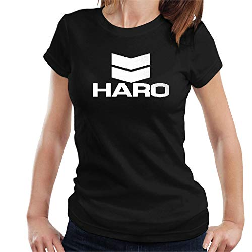 DIANXIAOERR Femme HARO Bikes Logo 2 Easy Short Sleeved Manches Courtes/T-Shirt XX-Large