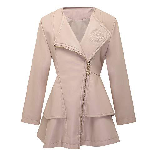 Girls Leather Coat Dress Outwear Windbreaker Kids Toddler Pink 3T 4T Twins Dream