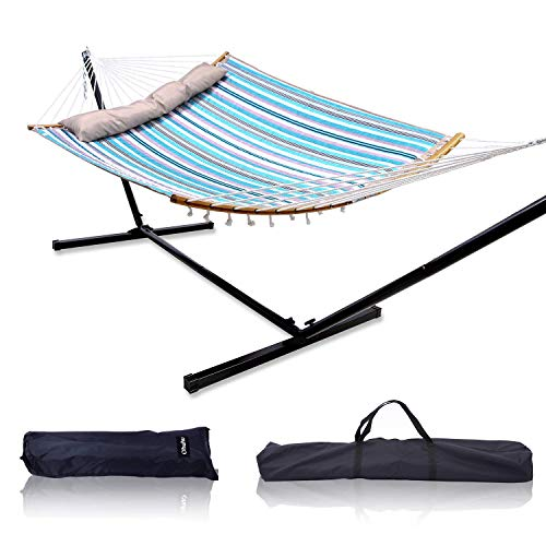 Double Hammock with Stand, Ohuhu 2-Person Hammock...