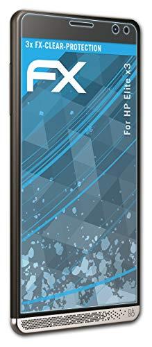 atFolix Schutzfolie kompatibel mit HP Elite x3 Folie, ultraklare FX Bildschirmschutzfolie (3X)
