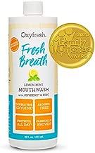 Oxyfresh Fresh Breath Lemon Mint Mouthwash   Award-Winning, Dentist-Recommended Bad Breath Mouthwash - Alcohol & Fluoride Free w/ Aloe & Natural Essential Oils (1- 16 oz Bottle)