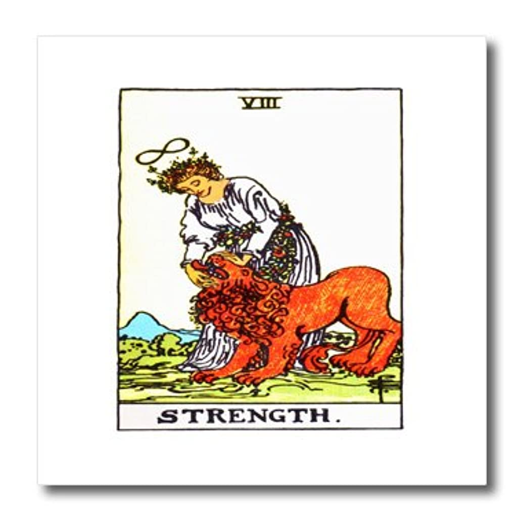 3dRose ht_62442_1 Tarot Card The Strength Iron on Heat Transfer, 8 by 8