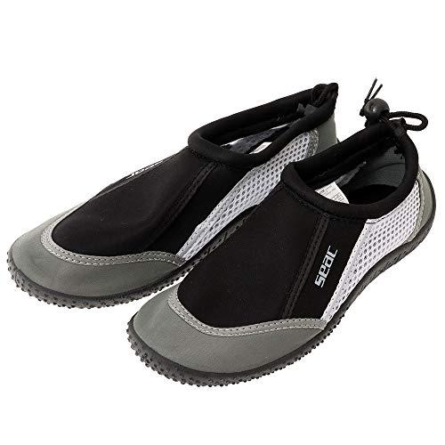 SEAC Reef Zapatillas Anti Deslizamiento niños, Secado rápido, Zapatos para el mar, la Playa y la Piscina, Unisex-Adult, Gris, 41