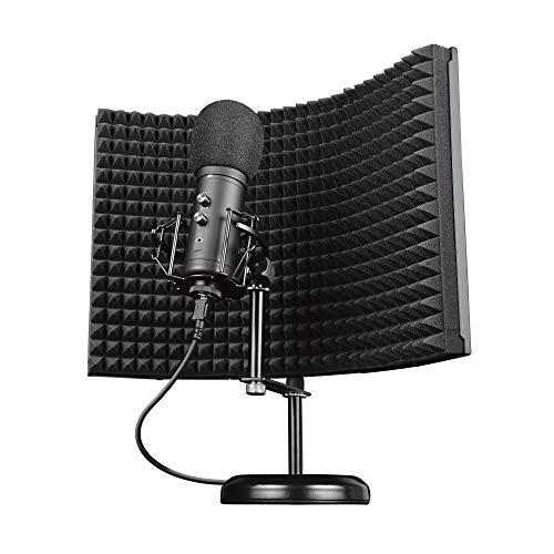 Trust Gaming Microfono con Schermo Fonoassorbente GXT 259 Rudox - USB Microfono a Condensatore per Studio e Registrazione Professionale, Canto, Podcast, Streaming, Voce, YouTube, Twitch, PC/Laptop