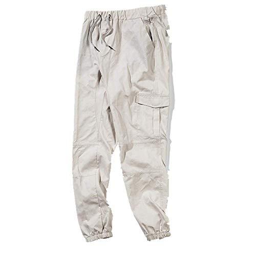 N\P Overalls - Pantalones de harén para hombre con múltiples bolsillos