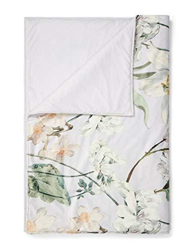 ESSENZA Quilt Rosalee Blumen Polyester Grau, 220x265 cm