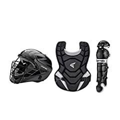 Hockey style ABS shell helmet and steel cage with dual density foam Chest Protector with foam padding for protection Leg Guards with double knee protection Sport Type: Baseball