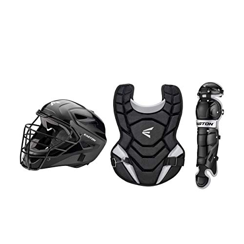 EASTON BLACK MAGIC 2.0 Youth Catchers Protective Box Set, Jr Youth, Age 6 - 8, Black, Small Helmet, Jr Youth 12 in Chest Protector, Jr Youth 11.5 in Leg Guards