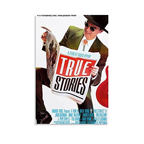 JKKFANS True Stories Movie Posters Canvas Art Poster and Wall Art Picture Print Modern Family Bedroom Decor Posters 16×24inch(40×60cm)