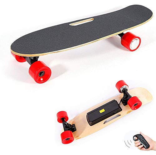Monopatín eléctrico, Ligero Longboard Skateboarding con Control Remoto, 7 Capas de Arce...