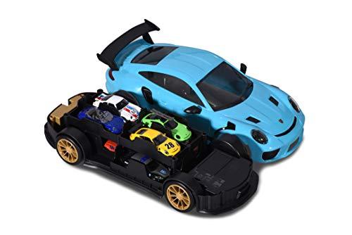 Majorette- Porsche 911 GT3 RS Carry Case 35 cm con Suoni + 1 Auto, 3 Anni, 212058194