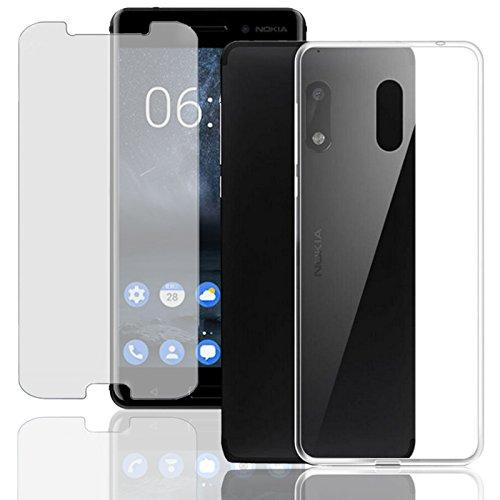 Eximmobile Silikon Hülle + Panzerfolie für Nokia 2.1 Handyhülle mit 9H Echt Glasfolie Schutzhülle mit Schutzfolie Handytasche Silikonhülle Tasche Hülle Bildschirmschutzfolie Bildschirmschutz