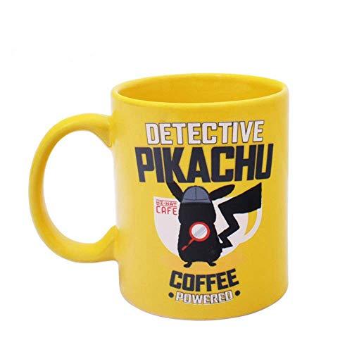 LUISONG FANMENGY Cup El Detective Pikachu animación Alrededor de la Taza de la Historieta Creativa Taza de cerámica Taza de café Copas Hogar