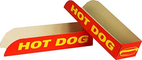 Self-Pack-Container - Hot Dog Box - 50 Einheiten - zum Mitnehmen
