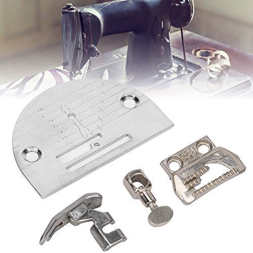 Máquina de coser Placa de aguja Prensatelas Pies Abrazadera de aguja Piezas de repuesto de dientes de sierra para la mayoría de las máquinas de coser de tipo antiguo