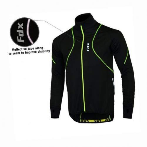 FDX - Giacca anti-vento performante per ciclismo, da uomo, termica e ideale per l'inverno