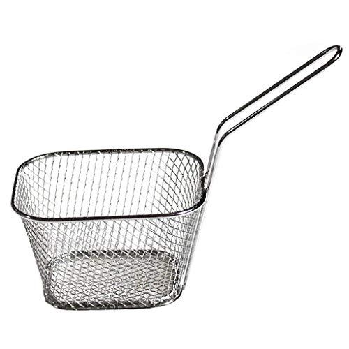 Electroplaca de acero inoxidable Mini fritura bloque de malla herramientas de cocina patatas fritas cilíndricas cesta de freír cesta de cocina herramienta duradera en uso