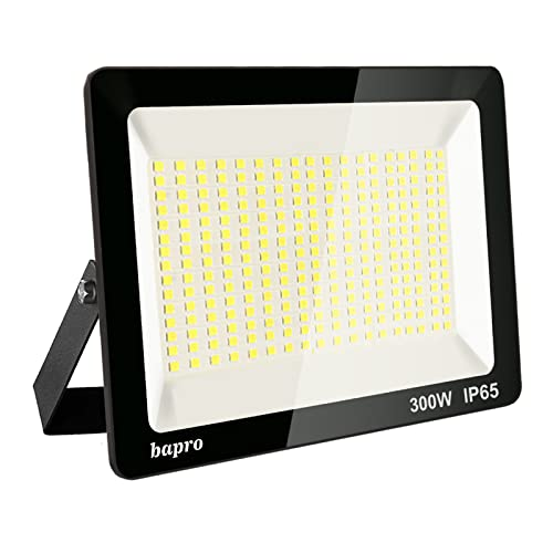 300W LED Foco Exterior, Proyector Foco Led Blanco Frío 6000K Floodlight Brillo Alto IP65 Impermeable Exterior Iluminación para Jardín, Garaje, Fábrica [Clase de Eficiencia Energética A++]