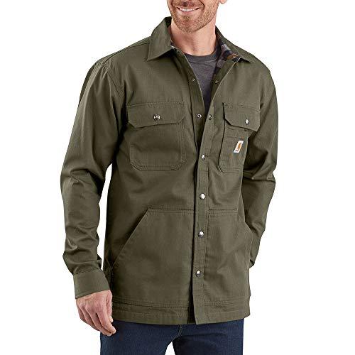 Carhartt Mens Weathered Canvas Workwear Shirt Jacket