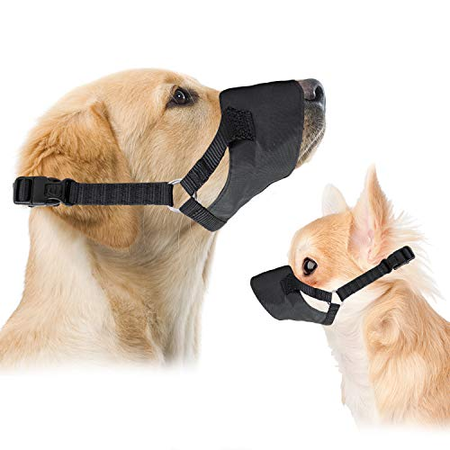 Downtown Pet Supply Soft Flexible Mesh Dog and Cat Muzzle for Barking Biting or Chewing, Humanely Train Behavior and Obedience, Gentle Halter Leader (X-Large)